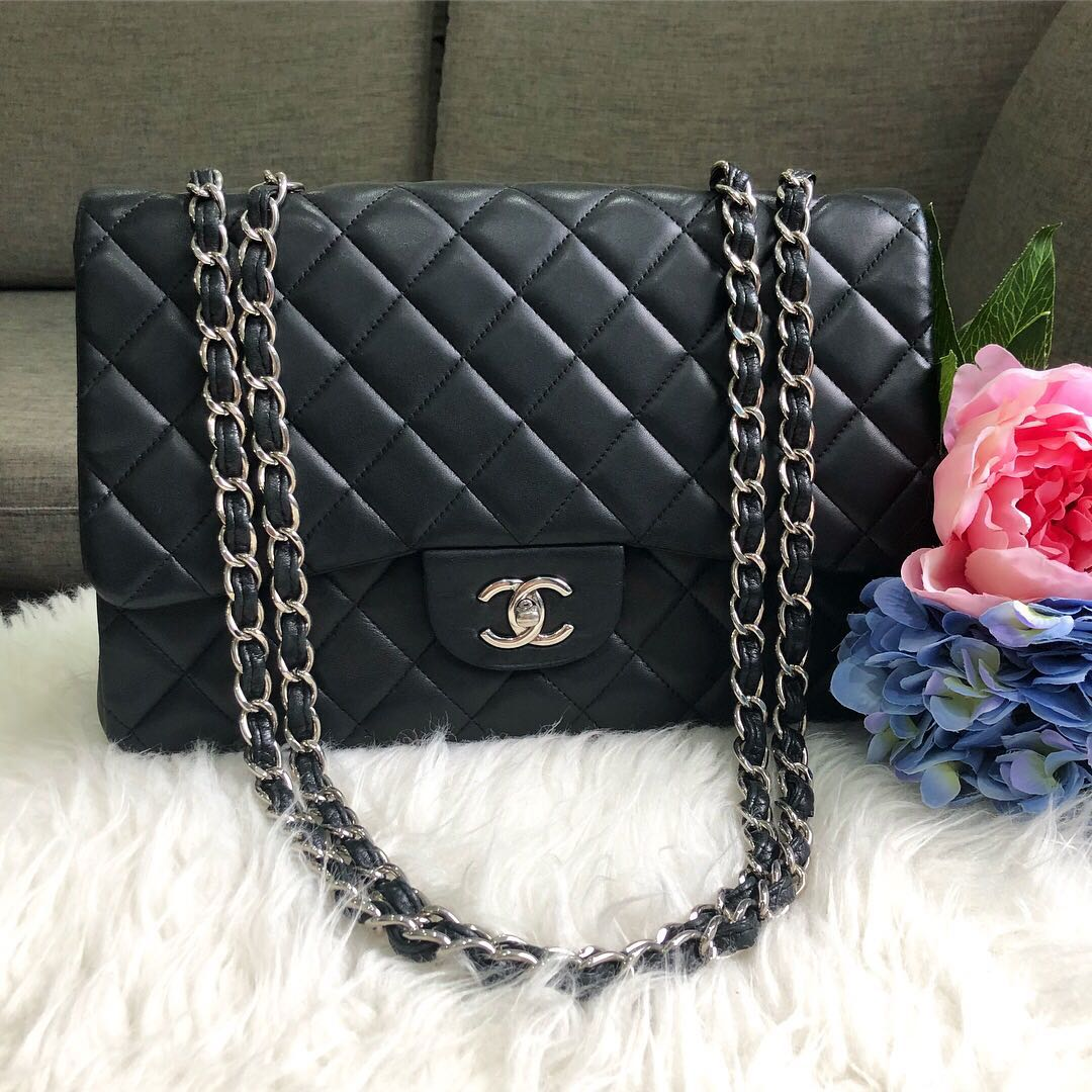 7840c9cae6a7 ❌SOLD!❌ Chanel Jumbo Classic Single Flap in Black Lambskin SHW ...