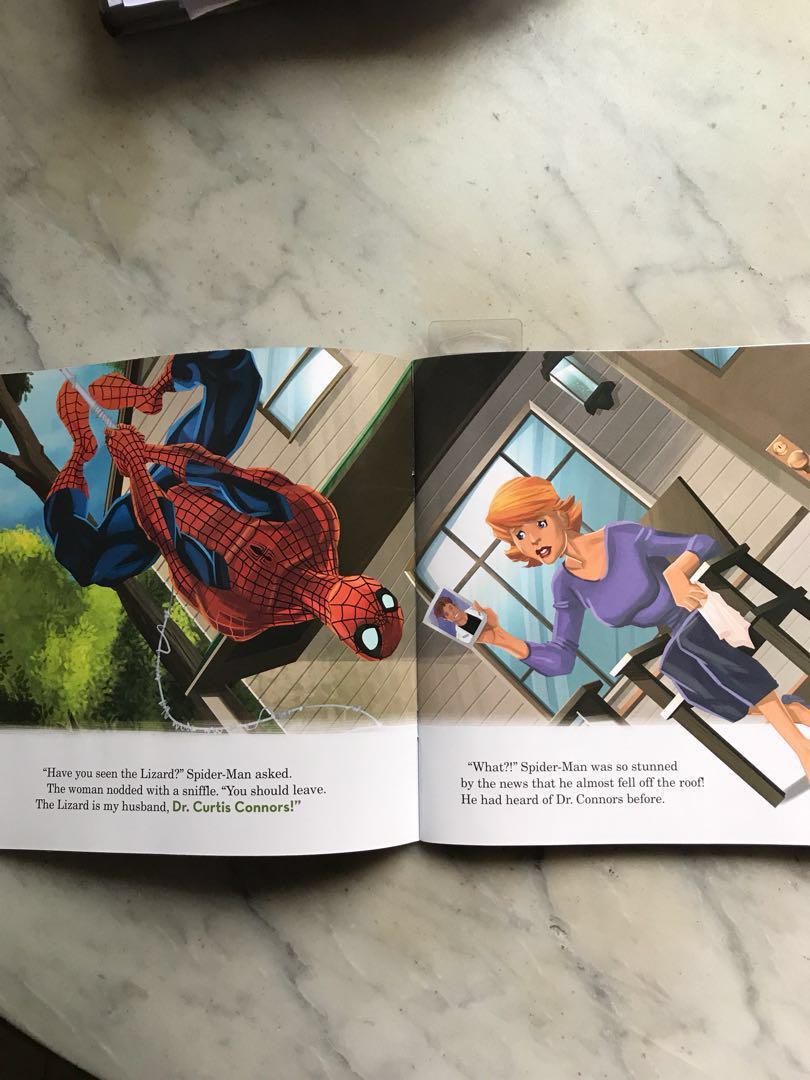Spider Man picture book marvel hero kids reading collectors children