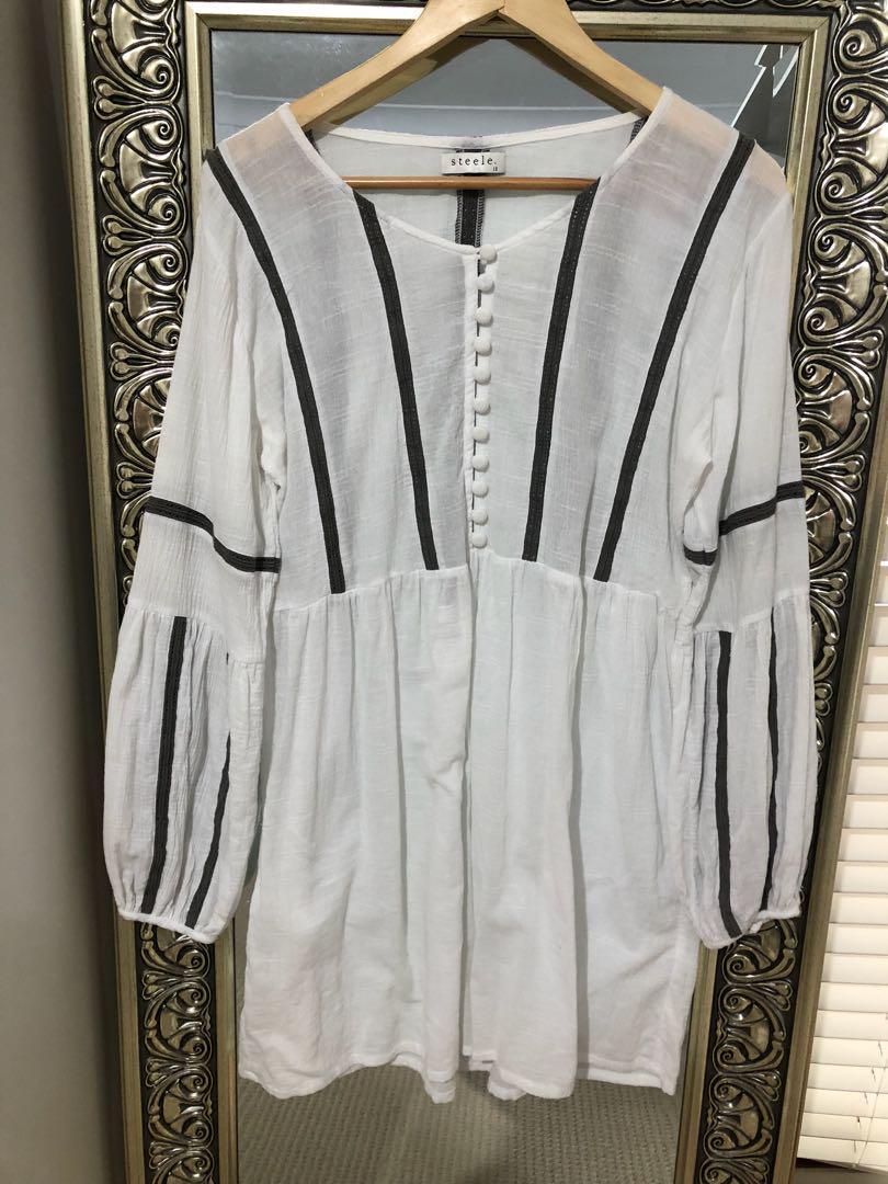 Steele white dress