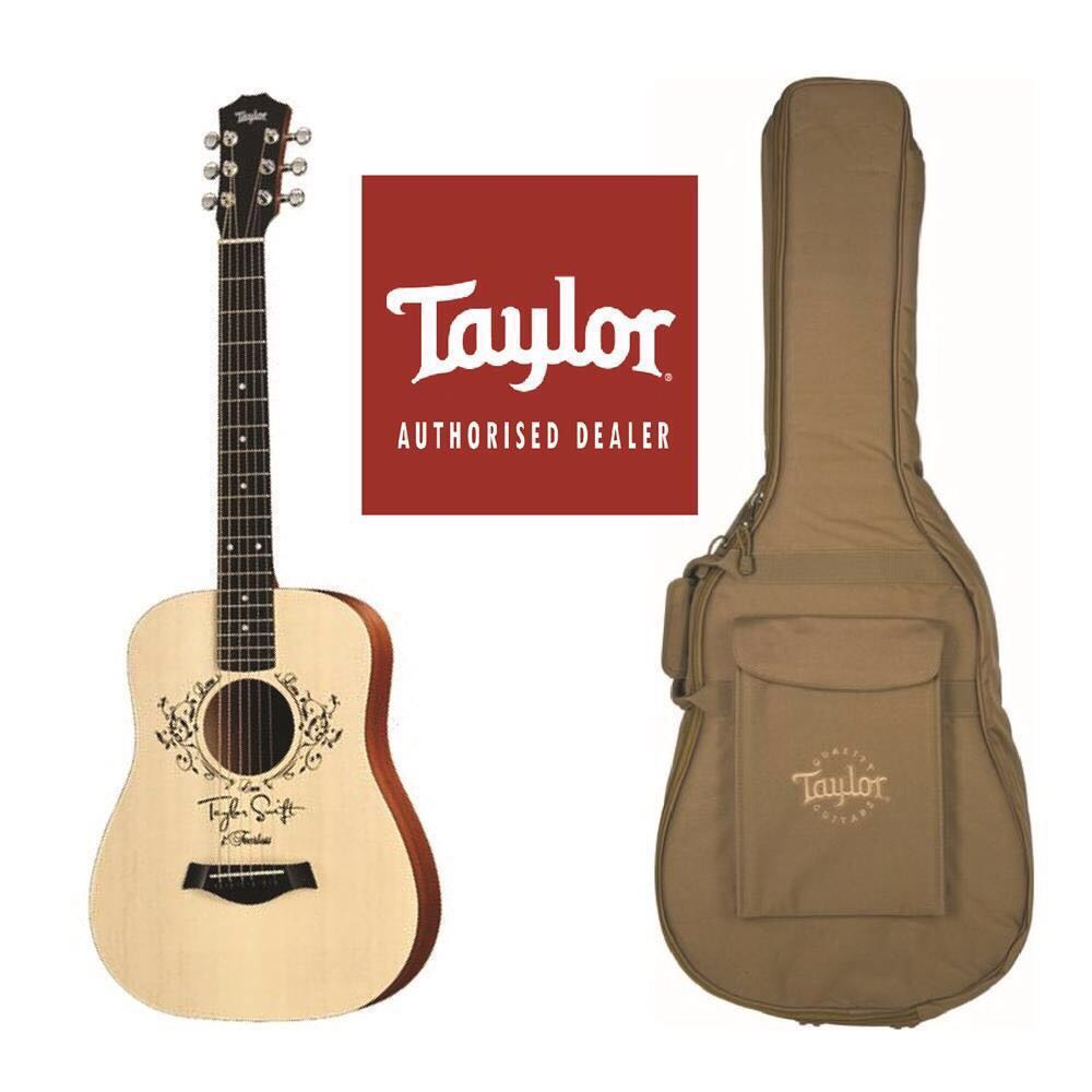 Taylor Swift Autographed Baby Taylor Guitar Music Media Music Instruments On Carousell