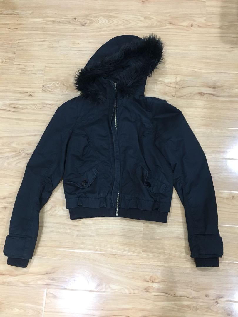 Used jacket with fur