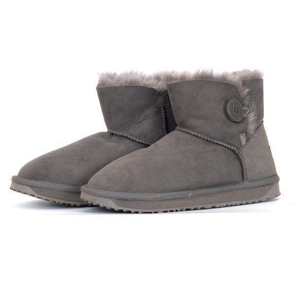 15a4a38a72d Winter Boots: One Button Ankle UGG Grey Boots