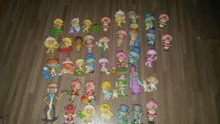 Big lot of strawberry shortcake pvc mini figures 80's