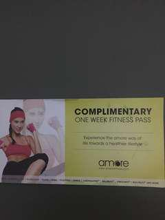Free Amore one week fitness pass