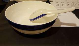 Singapore Airlines First Class Bowl and Spoon Set
