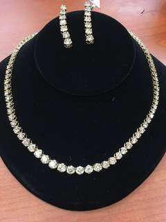 鑽石項鍊耳環套裝 Diamond Necklace and Earrings set
