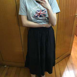 Black wide legs pants skirt style