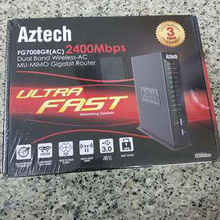 BN SEALED Aztech Dual Band Wireless-AC MU-MIMO Gigabit Router