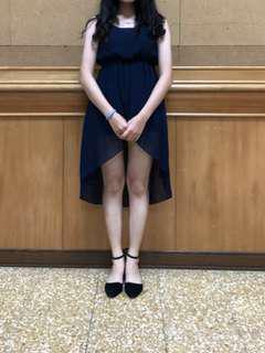 🚚 前短後短雪紡洋裝