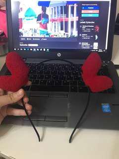 BN heart plush hair band