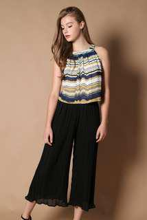 The Stage Walk TSW Gina Pleated Halter Top in Patterns