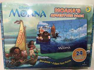 BNIP Disney Moana's Adventure Pack - Storybook plus A Giant Floor Puzzle