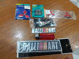 Mitsubishi motors ralliart wrc rally badge emblem keychain stickers