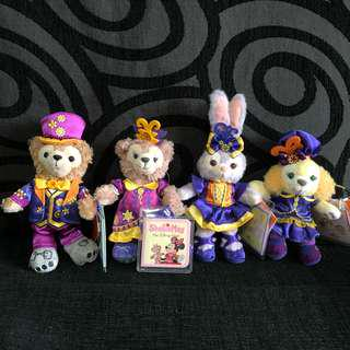 HK Disneyland Halloween series Duffy, Shelliemay, Stella Lou And Cookie plush keychain