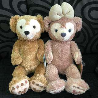PO HK Disneyland Duffy And Shelliemay S size plush