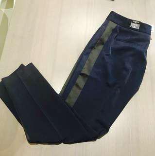 Size 2 Express Editor Ankle Dress Pants (Navy)