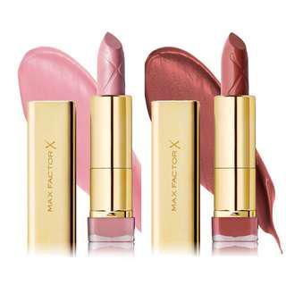 🚚 Bn Max factor #725 #833 colour elixir lipstick
