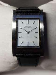 Guess Micro Steel watch for men/ladies with black leather strap