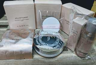 🚚 Jill Stuart 吉麗絲朵 柔光美肌持久氣墊粉餅 粉蕊+粉盒+粉撲  卸妝油+粧前乳
