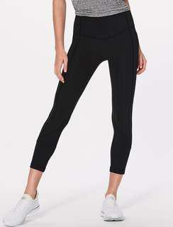Lululemon All the Right Places Crop (Black, size 6)