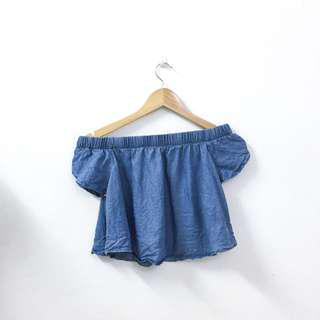 [Free Postage 📮] Cotton On Denim Off Shoulder #UNDER90