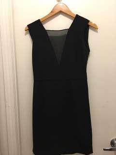 Aritzia Babaton black cocktail dress with open back sz 2