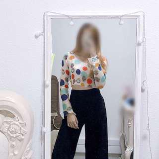 Bubbles Knitted Cropped Top