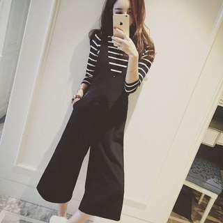 Black Suspender Jumpsuit