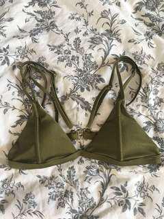 Forest green bikini top size XS