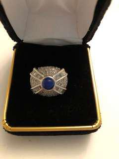 10k gold 2.00 ct diamond crown ring size 7