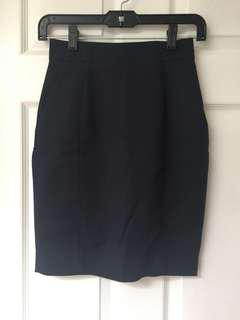 Navy business skirt size 2