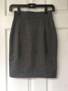Grey business skirt size 2
