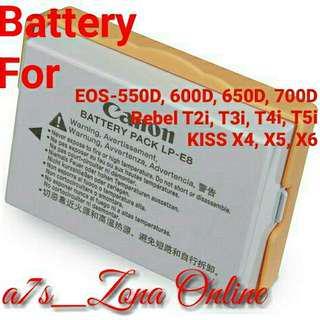 Baterai For Canon LP-E8 550D, 600D, 650D, 700D