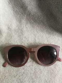 Pink Metal Sunglasses
