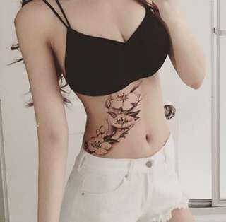 Flower Temp Tattoo