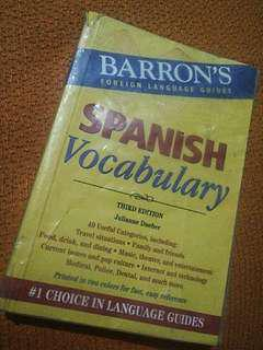 Barrons Spanish vocabulary third editom