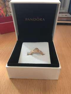 Pandora Princess Ring ( rose gold)