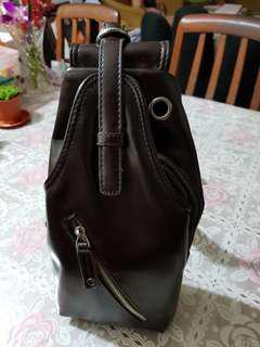 Deep brown crossbody bag
