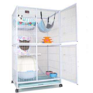 🚚 In stock  - side door Premium 2 way use of Cat Chinchilla Parrot Cage /  Condo with full size front door