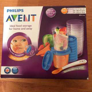 Avent reusable food storage cups