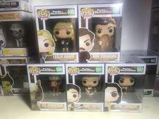 Funko Pop Parks and Recreation Set of 5