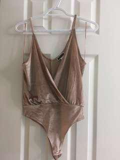 Velvet body suit S