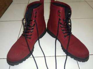 Nokha by Zalora boots pria maroon
