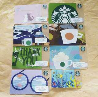 Starbucks Cards korea 8 piece