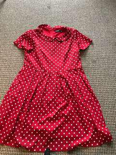 Dangerfield red dress with white polka dots price reduced