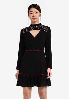 Something Borrowed Embroidered Cut Out Neckline Dress