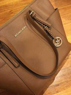 Authentic Michael kors brown tote bag