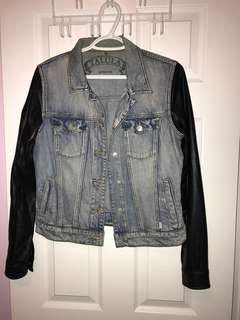 talula denim + leather jacket