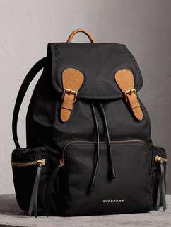 [sale] Burberry Large Black Backpack Rucksack