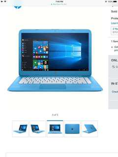 HP Laptop (blue)